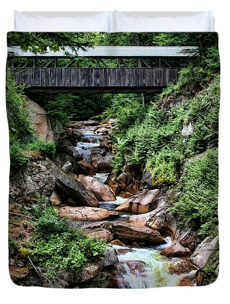 The Flume Duvet Cover by Heather Applegate
