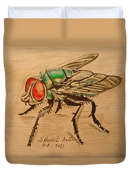 The Fly Duvet Cover by Fladelita Messerli-