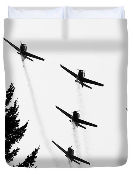 The Fly Past Duvet Cover