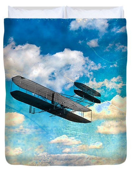 The Flying Machine Duvet Cover by Bill Cannon