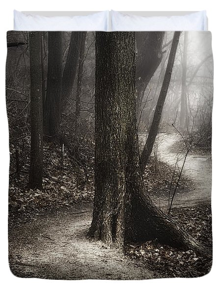 The Foggy Path Duvet Cover