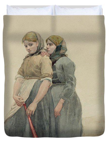 The Foghorn Duvet Cover by Winslow Homer