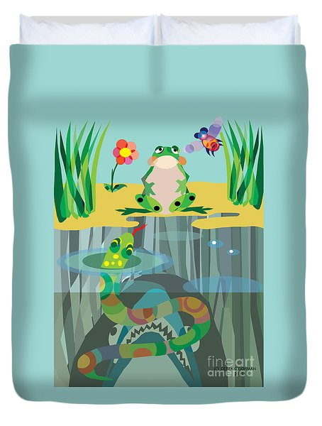 The Food Chain Duvet Cover