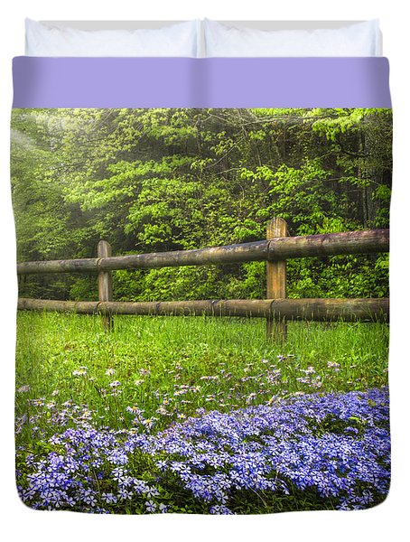 The Forest Is Calling Duvet Cover by Debra and Dave Vanderlaan