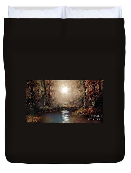 Sunrise Forest  Duvet Cover by Michael Rucker