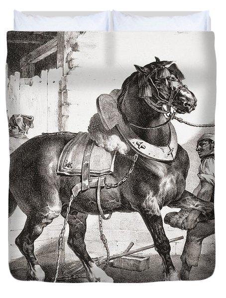 The Forge, From Etudes De Cheveaux, 1822 Duvet Cover