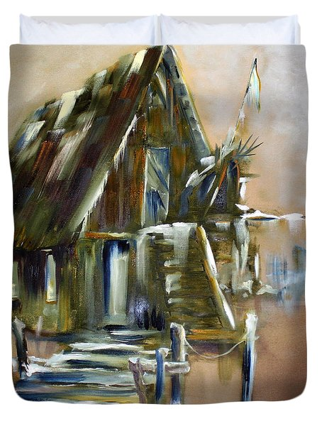 The Forgotten Shack Duvet Cover by David Kacey