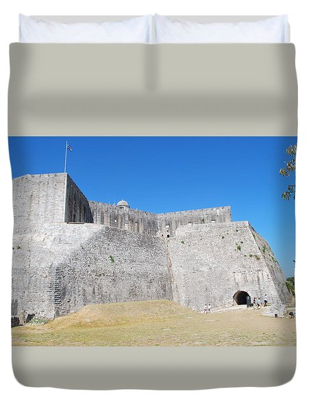 Duvet Cover featuring the photograph The Fort Never Fell by George Katechis