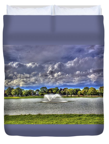 The Fountain Duvet Cover by Tim Buisman