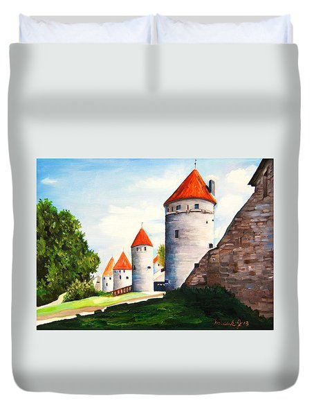 The Four Old Towers Estonia Duvet Cover