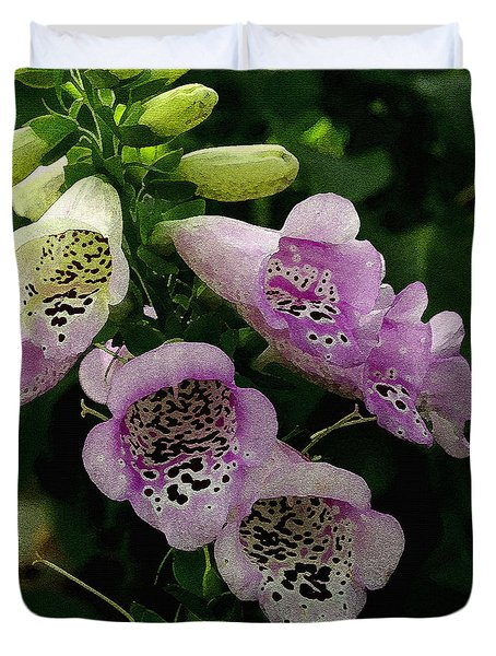 The Foxglove Duvet Cover