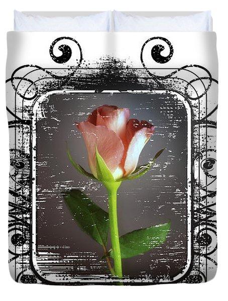 The Framed Rose Duvet Cover by Mauro Celotti