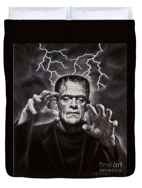 The Frankenstein Monster Duvet Cover by Dick Bobnick