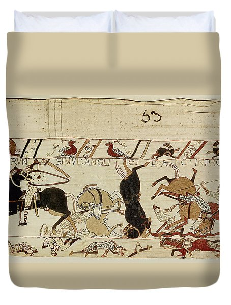 The Bayeux Tapestry Duvet Cover by French School