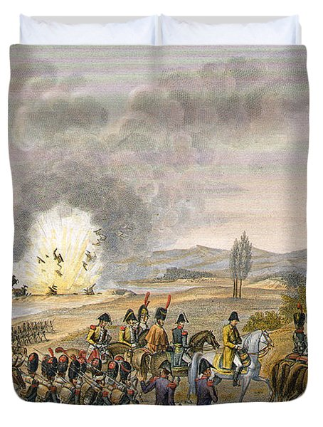 The French Retreat After The Battle Duvet Cover