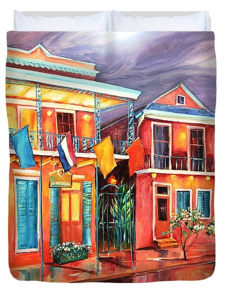 The Frenchmen Hotel New Orleans Duvet Cover by Diane Millsap