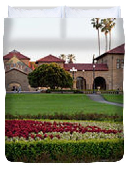 The Front Of Stanford University Duvet Cover