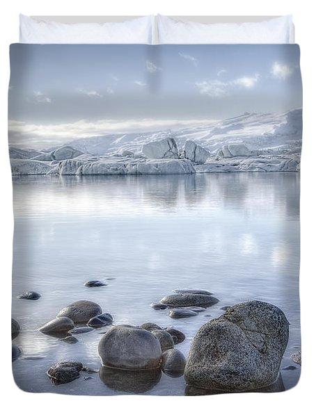 The Frozen World Duvet Cover by Evelina Kremsdorf