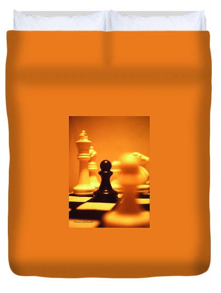 The Games We Play Duvet Cover by Thomas Woolworth
