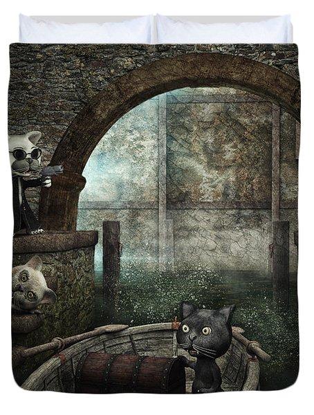The Gang Duvet Cover by Jutta Maria Pusl