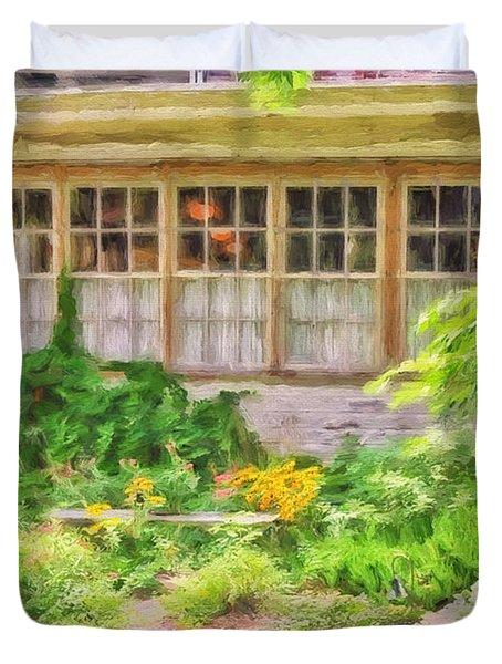 The Garden At Juniata Crossings Duvet Cover by Lois Bryan
