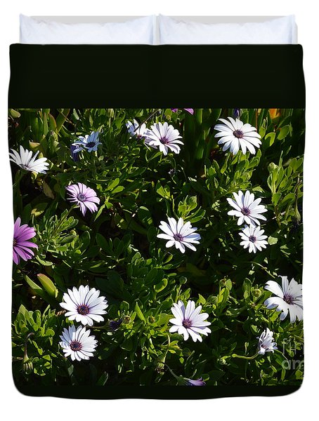 Duvet Cover featuring the photograph The Garden by Laurie Lundquist