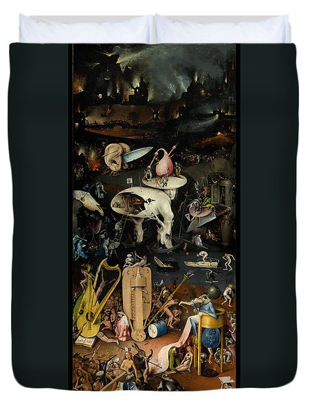 The Garden Of Earthly Delights. Right Panel Duvet Cover