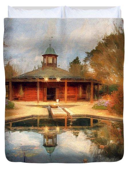 The Garden Pavilion Duvet Cover by Darren Fisher