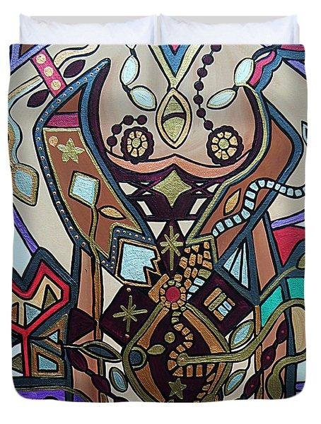 The Gardener Duvet Cover by Barbara St Jean