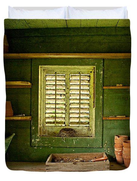 The Gardener's Shed Duvet Cover