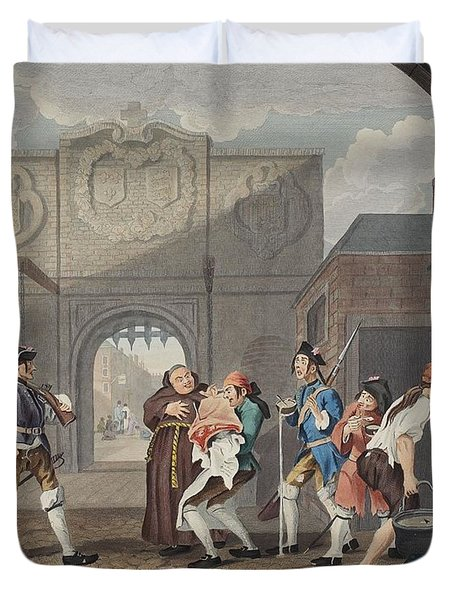 The Gate Of Calais, Or O The Roast Beef Duvet Cover