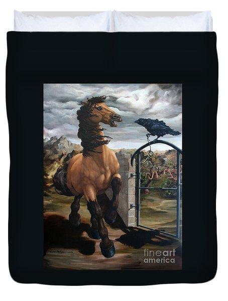 The Gatekeeper Duvet Cover by Lisa Phillips Owens