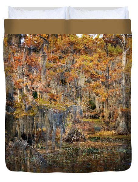Duvet Cover featuring the photograph The Gathering by Lana Trussell