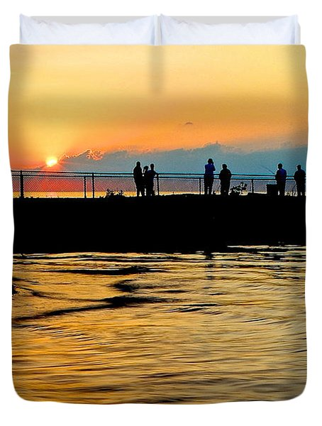 The Gathering Spot Duvet Cover by Frozen in Time Fine Art Photography