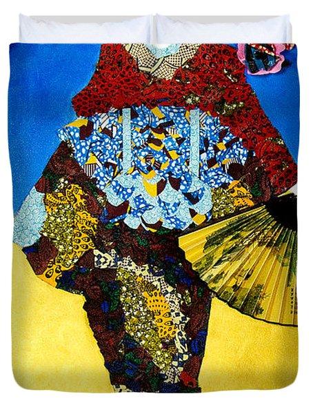 The Geisha Duvet Cover