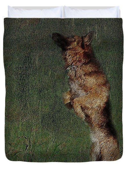 The German Shepherd Great Dog Duvet Cover by Manjot Singh Sachdeva