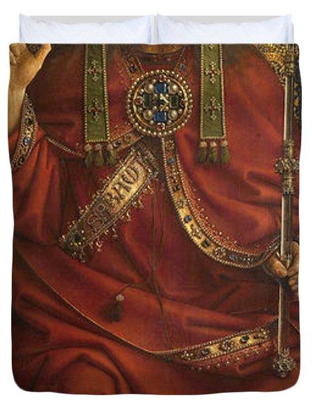 The Ghent Altarpiece Open  Duvet Cover