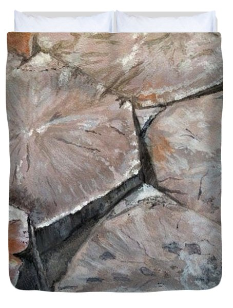 The Giant's Causeway Duvet Cover by Brenda Brown
