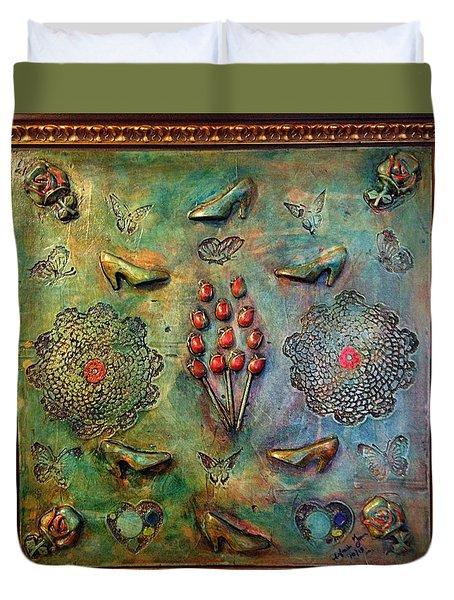 The Gift By Alfredo Garcia Art Duvet Cover by Alfredo Garcia