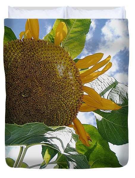 The Gigantic Sunflower Duvet Cover