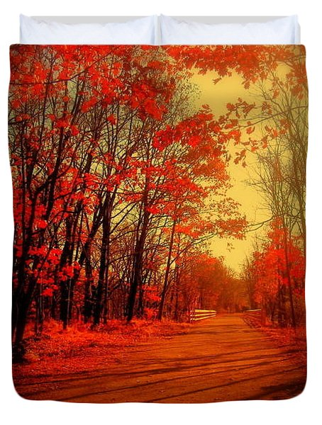 The Ginger Path Duvet Cover