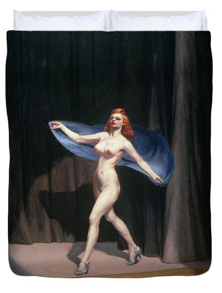 The Girlie Show Duvet Cover by Edward Hopper