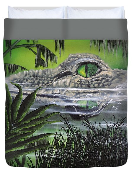 Duvet Cover featuring the painting The Glades by Dianna Lewis