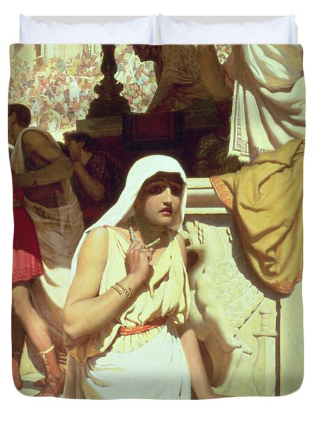 The Gladiators Wife Duvet Cover by Edmund Blair Leighton