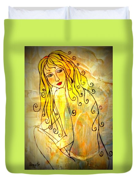 The Glow Of A Woman..... Duvet Cover
