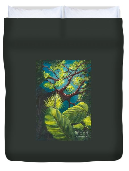 The Goblin Market Restaurant Tree Mt. Dora Duvet Cover