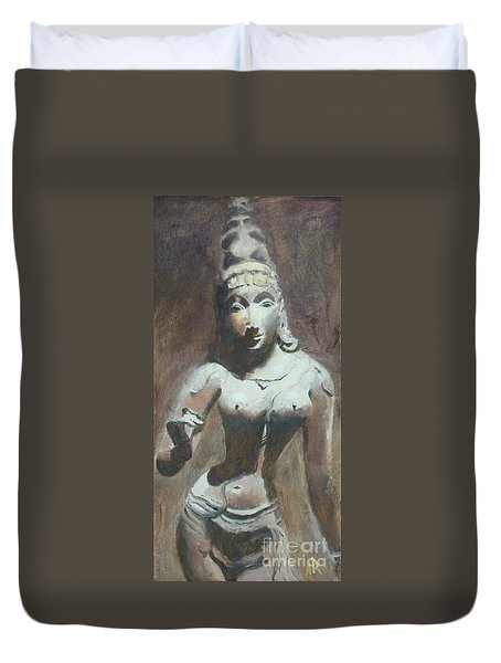 The Goddess Parvati Duvet Cover by Ann Radley