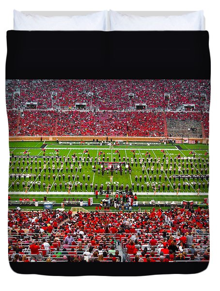 Duvet Cover featuring the photograph The Going Band From Raiderland by Mae Wertz