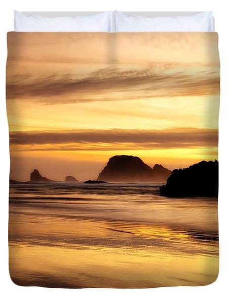 The Golden Coast Duvet Cover by Darren  White