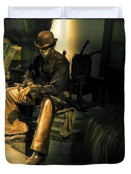 The Golden Cowboy Duvet Cover